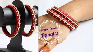 How to make thread kundan bangles #DIY / silk thread bangles