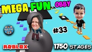 Roblox DESAFIO 100 Fases do Mega Fun Obby [1750 STAGES] Family Plays