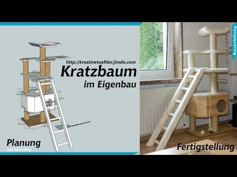 how to kratzbaum selbst machen i kratzbaum diy i katzen doovi. Black Bedroom Furniture Sets. Home Design Ideas