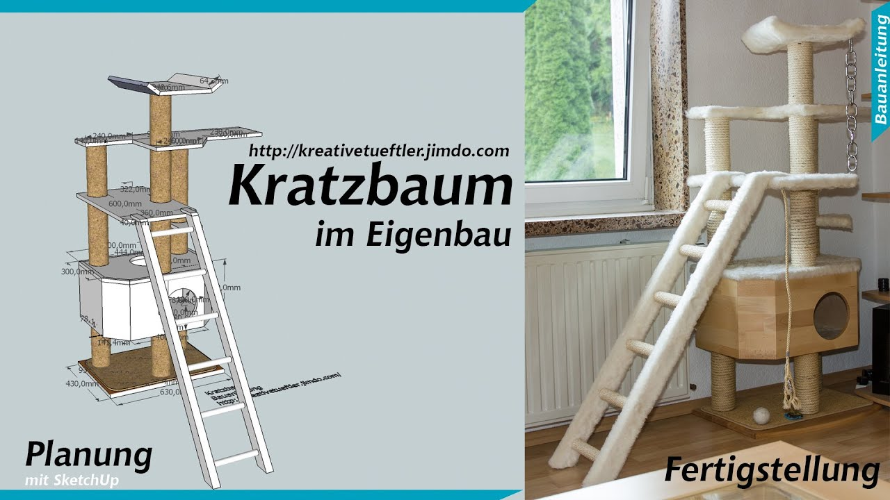 katzen kratzbaum selber bauen youtube. Black Bedroom Furniture Sets. Home Design Ideas