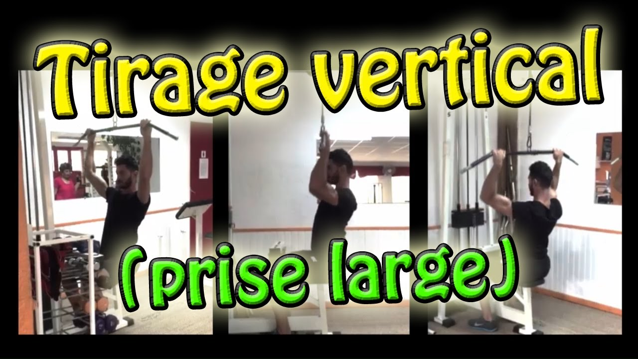 ║TIRAGE VERTICAL prise large║ Exercice de musculation - ksCoaching ... 41921ad8648