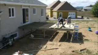 How To Build A Deck - Patio Decking Diy Garden Decking. How To Lay Decking. Timber Woodwork Plans