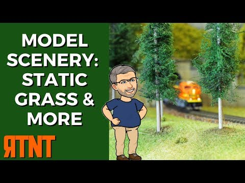 Model Railroad Scenery - Ground Cover and Static Grass