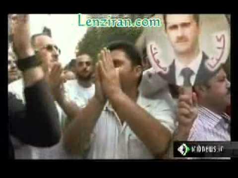 Syrian Bashar Asad  supporters attack US ambassador Robert Ford in Damascus street