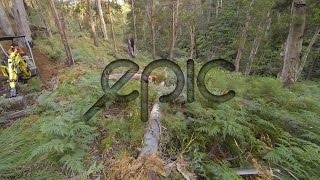 A day in the life of the Australian Alpine EPIC MTB Trail Mt Buller, GoPro timelapse