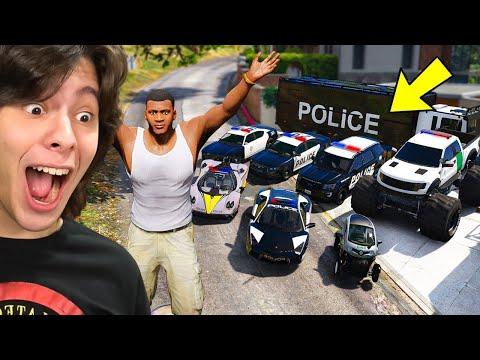 COLECIONANDO CARROS DA POLICIA NO GTA 5!! (Incrível)