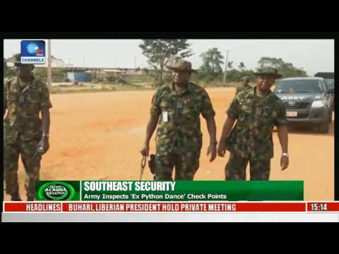 Army Inspects Exercise Python Dance Check Points
