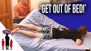 Dad Physically Drags Teenage Boy Out Of Bed | World's Strictest Parents