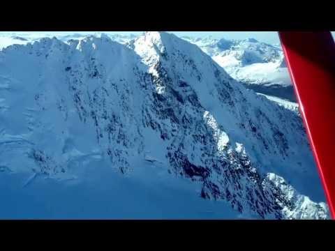 Above the Chugach mountain range Alaska