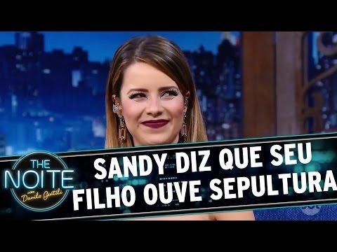 The Noite (05/09/16) - Sandy diz que seu filho gosta de tatuagens e ouve Sepultura