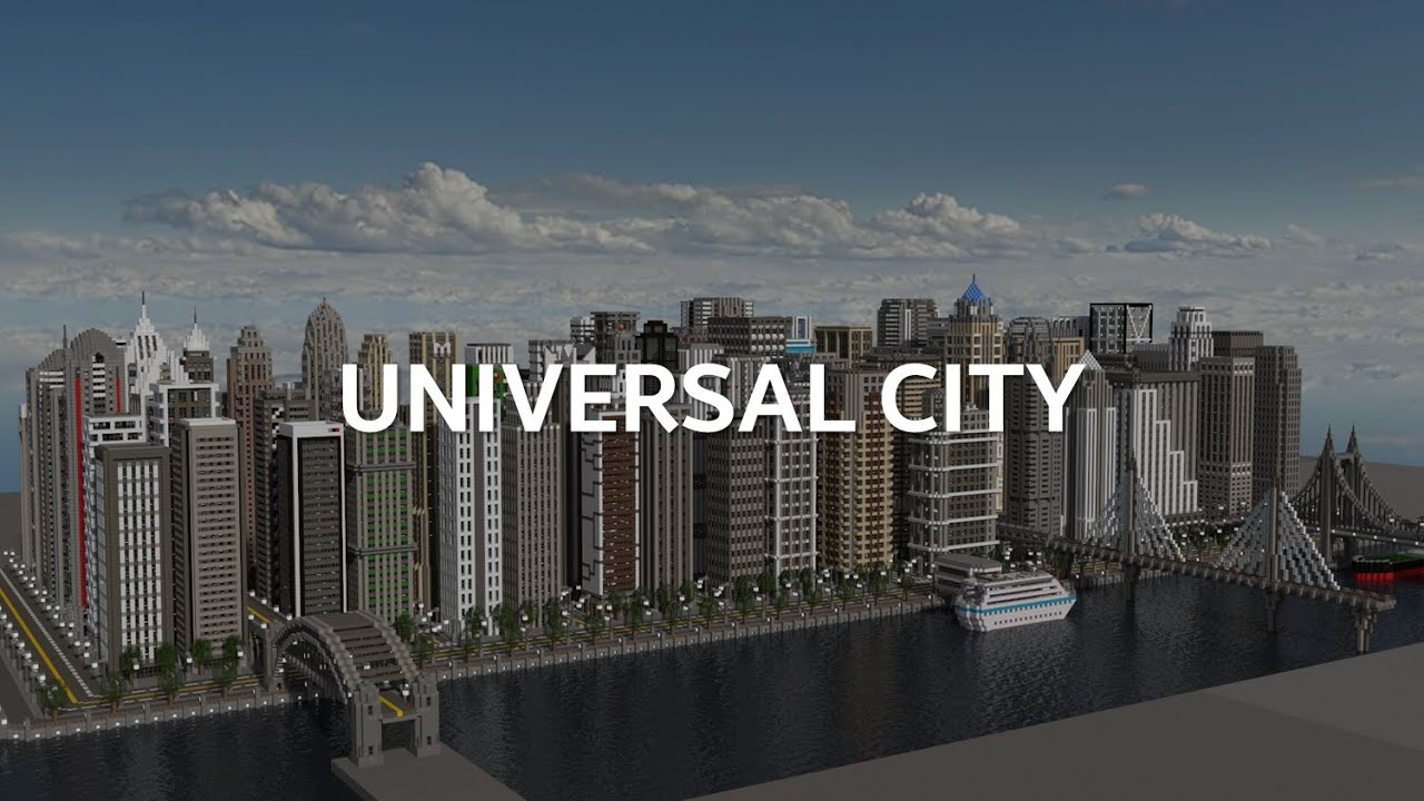 UNIVERSAL CITY Minecraft Pocket Edition Download YouTube