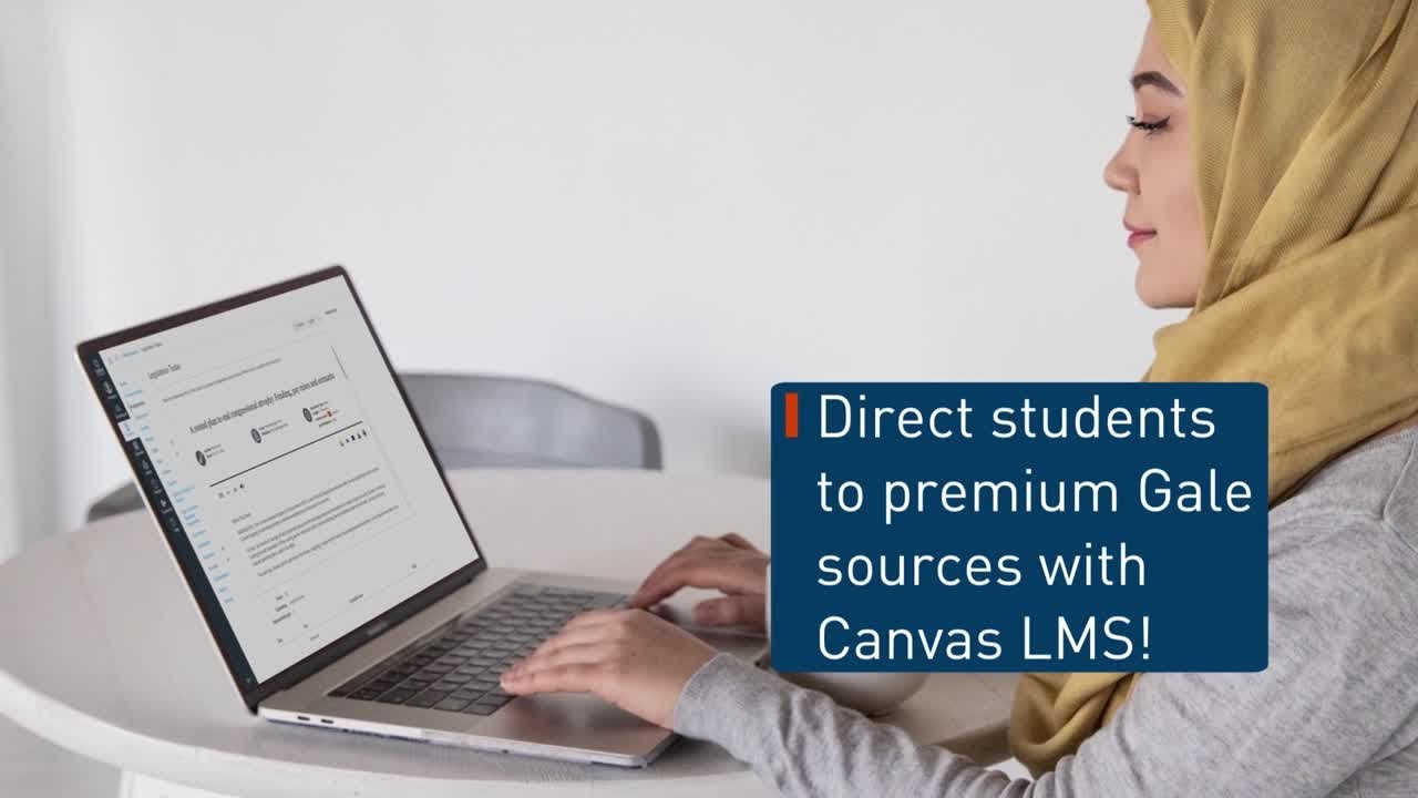 Gale Tools – Link and Embed Sources In Canvas LMS