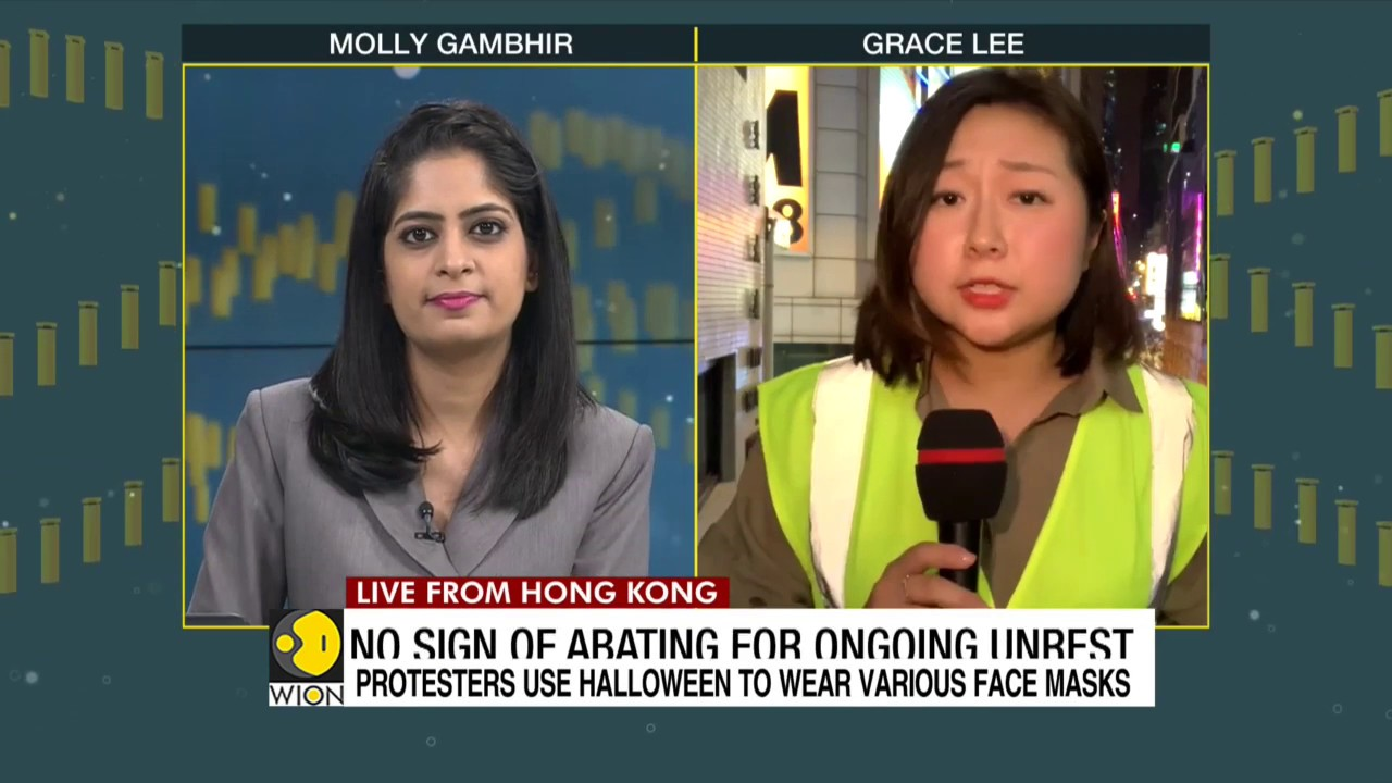 WION Dispatch: Grace Lee on Halloween Masquerade March in Hong Kong