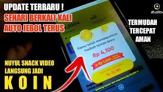 BARU NEMU || TRIK TERBARU NUYUL SNACK VIDEO LANGSUNG JADI KOIN screenshot 1