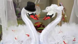 как сделать лебедей на свадьбу