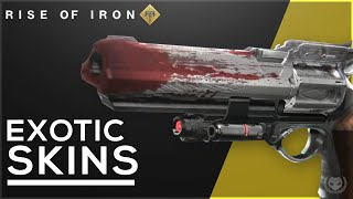 Destiny: Rise of Iron New Exotic Skins! New Gear & Ornaments!