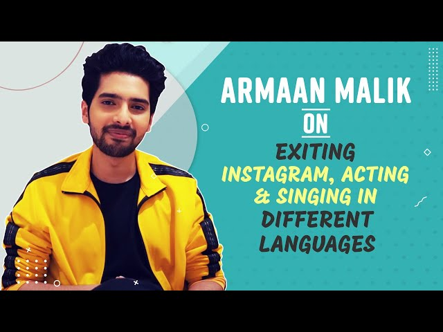 Armaan Malik Opens Up about EXITING Instagram, Acting and Singing in Different Languages [Exclusive]