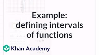 Matching expressions to define intervals of functions example   Algebra II   Khan Academy