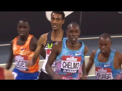 Men's 3000m - Indoor Tour Glasgow 2018  [FULL HD]