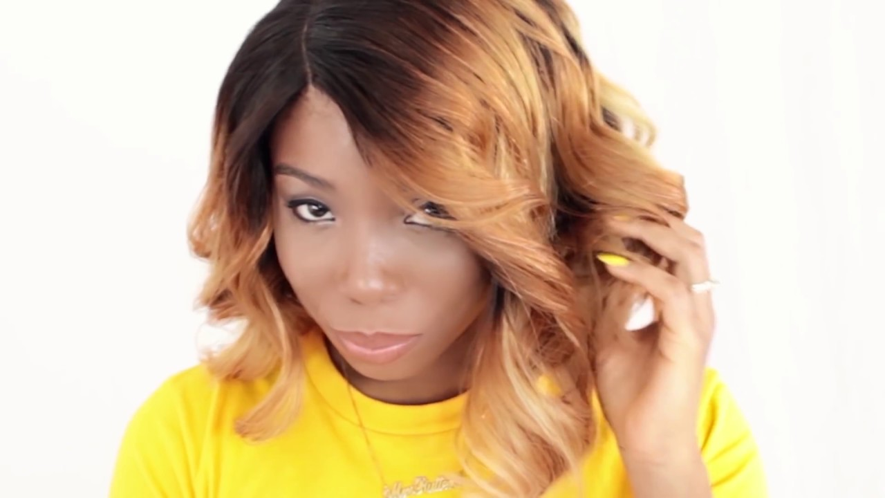 How To Style A Bob Haircut Wavy Ombre Bob Tutorial Youtube