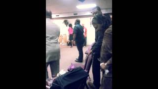 Praise Break after Evangelist Veronica Morgan