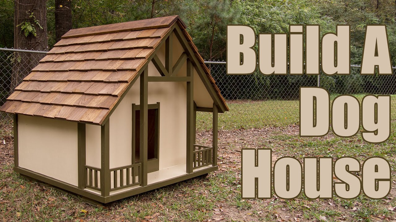 How to build a dog house youtube for Materials needed to build a house