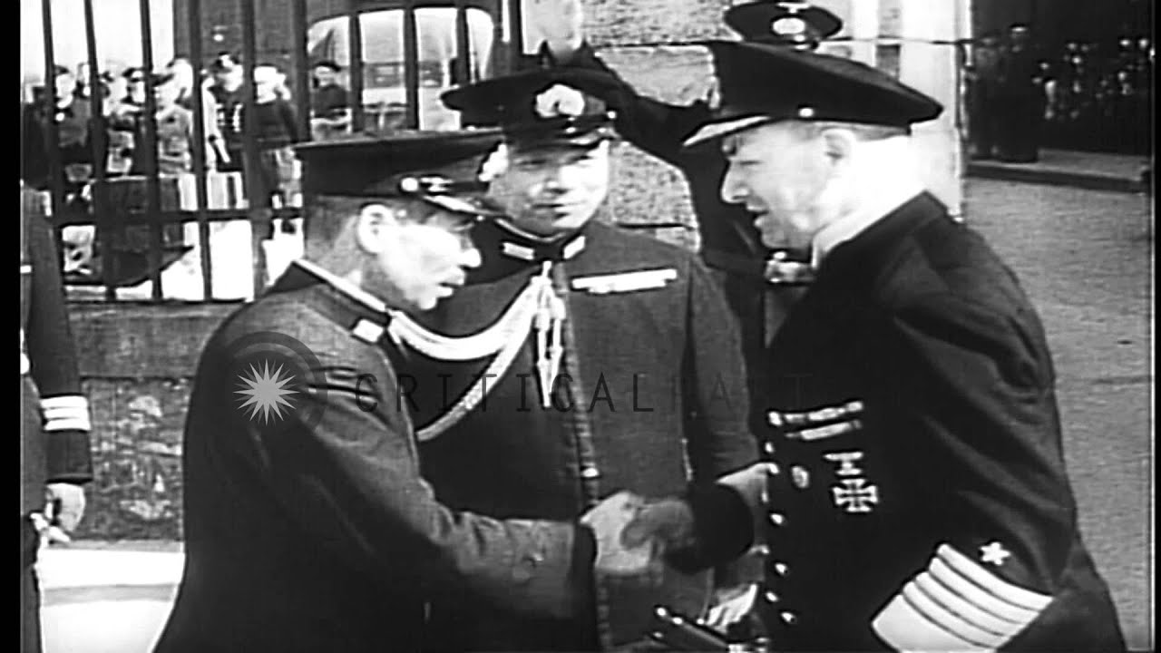 German and japanese naval officers greet each other aboard a german and japanese naval officers greet each other aboard a japanese submarine ihd stock footage m4hsunfo