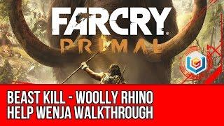 Far Cry Primal - Help Wenja: Beast Kill - Woolly Rhino Walkthrough (Gameplay Let