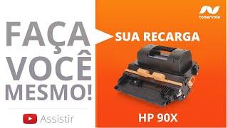 Recarga Toner HP 90X CE390X - HP Laserjet M602 M4555 M603dn - Vídeo Aula Toner Vale