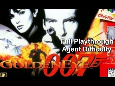 Goldeneye 007 Full Playthrough on Agent Difficulty (Nintendo