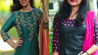 Embroidery work kurti design|| neck line kurti design 2020