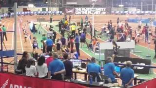 Nicole Adams 800m leg in DMR for Tennessee Elite Track Club