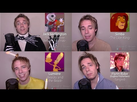 ONE GUY, 24 DISNEY VOICES (Simba, Aladdin, Olaf, Gaston)