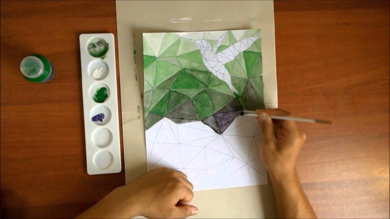 T cnica para hacer un lindo cuadro con pintura inspirado - Como preparar una pared para pintar ...