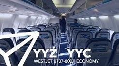 WESTJET || B737-800 (738) || Economy || Toronto - Calgary || FLIGHT REPORT