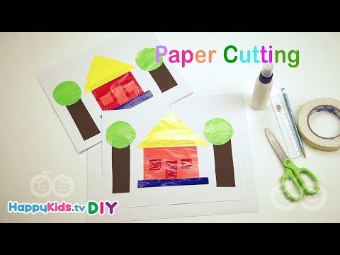 Paper Cutting Different Shapes | Paper Crafts | Kid's Crafts and Activities | Happykids DIY