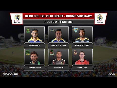 CPL T20 2018 Draft Auction Full Highlights | Sahid Afridi, Sandeep Lamichanne, Junior Dala Picked