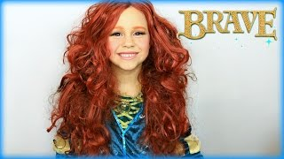 BRAVE Princess Merida Makeup Costume Tutorial
