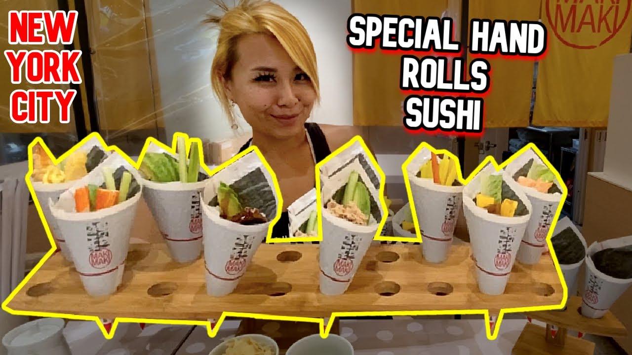 ONE OF A KIND Special Hand Rolls Sushi at Maki Maki in New York City (also Dubai) #RainaisCrazy