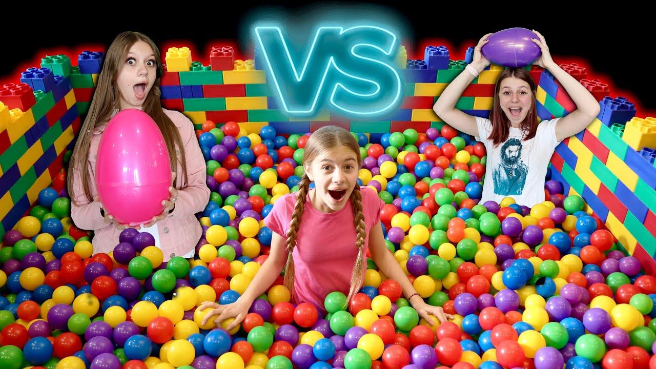Sister Vs Sister Ball Pit Easter Egg Hunt!