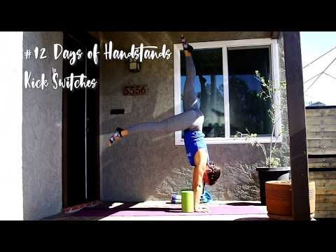 Kick Switches with Blocks | YogaSlackers 12 Days of Handstands