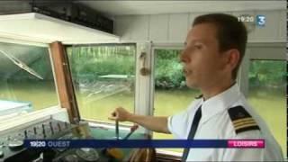 Le Lutin Suzerain,bateau, promenade, restaurant en  Sarthe sur France 3