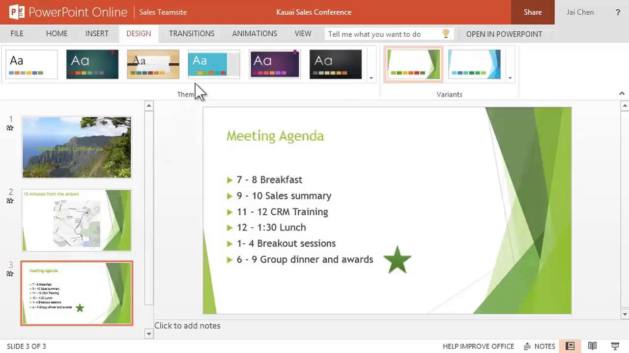 Use powerpoint online