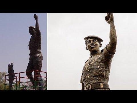 Burkina Faso unveils upgraded statue of Thomas Sankara