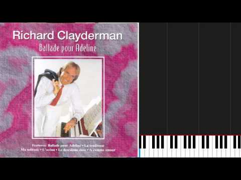 how to play ballade pour adeline by richard clayderman on piano sheet music youtube. Black Bedroom Furniture Sets. Home Design Ideas