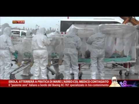 Ebola: paziente arrivato in Italia