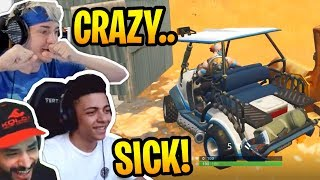 Streamers Using the *NEW* All Terrain Kart (ATK)! - Fortnite Best and Funny Moments