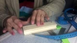 Maquininha de  fazer laço  caseira