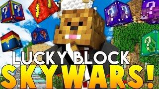 Minecraft SUPERHERO LUCKY BLOCK SKYWARS (Awesome Mods)