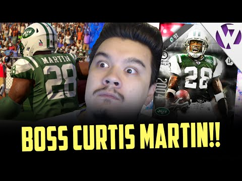 BOSS CURTIS MARTIN! HE DID THE FG BLOCK GLITCH! - MADDEN 16 ULTIMATE LEGEND CURTIS MARTIN GAMEPLAY